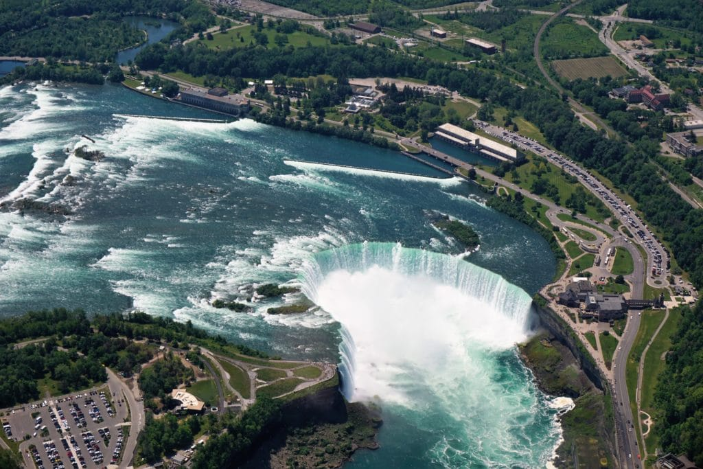 """We had an incredible view of the Horseshoe Falls. -""""Niagara Falls Helicopter Ride to Remember"""" - Two Traveling Texans"""