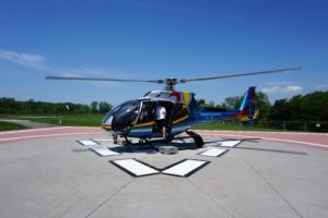 """Our helicopter ready getting ready for another flight. - """"Niagara Falls Helicopter Ride to Remember"""" - Two Traveling Texans"""