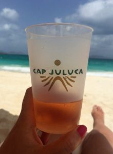 """Glass of Rosé at Cap Juluca - """"Beach Day Trip to Anguilla"""" - Two Traveling Texans"""