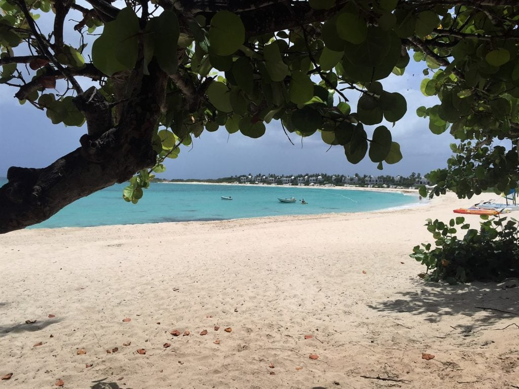 """I think this is the part of Maunday Beach open to the public? - """"Beach Day Trip to Anguilla"""" - Two Traveling Texans"""