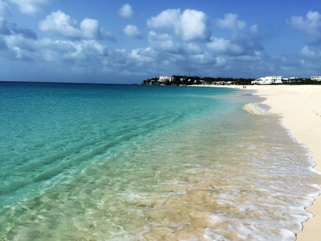 """Meads Bay Beach is another beach with white sand and crystal clear water. - """"Beach Day Trip to Anguilla"""" - Two Traveling Texans"""