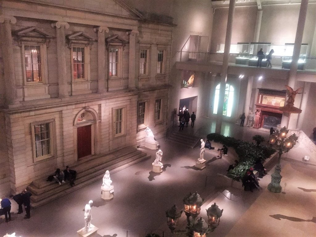 """The Met was pretty quiet after dark. - """"Met vs MOMA: Which Museum is Best?"""" - Two Traveling Texans"""