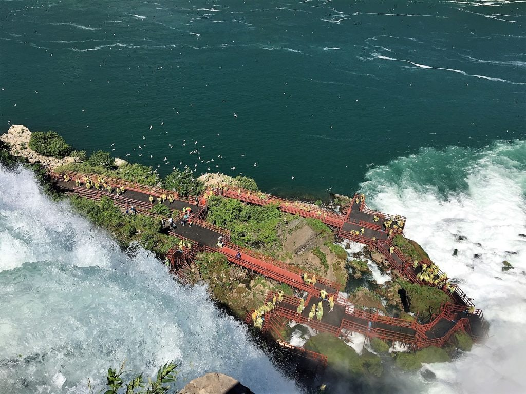 "View of the Cave of the Winds from above. - ""Cave of the Winds: Niagara Falls Closeup"" - Two Traveling Texans"