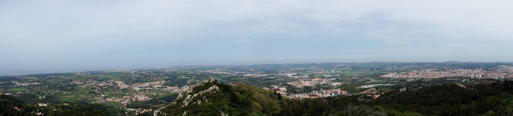 "A panoramic view of Sintra from the Pena Palace. - ""Make Your Own Sintra Tour"" - Two Traveling Texans"