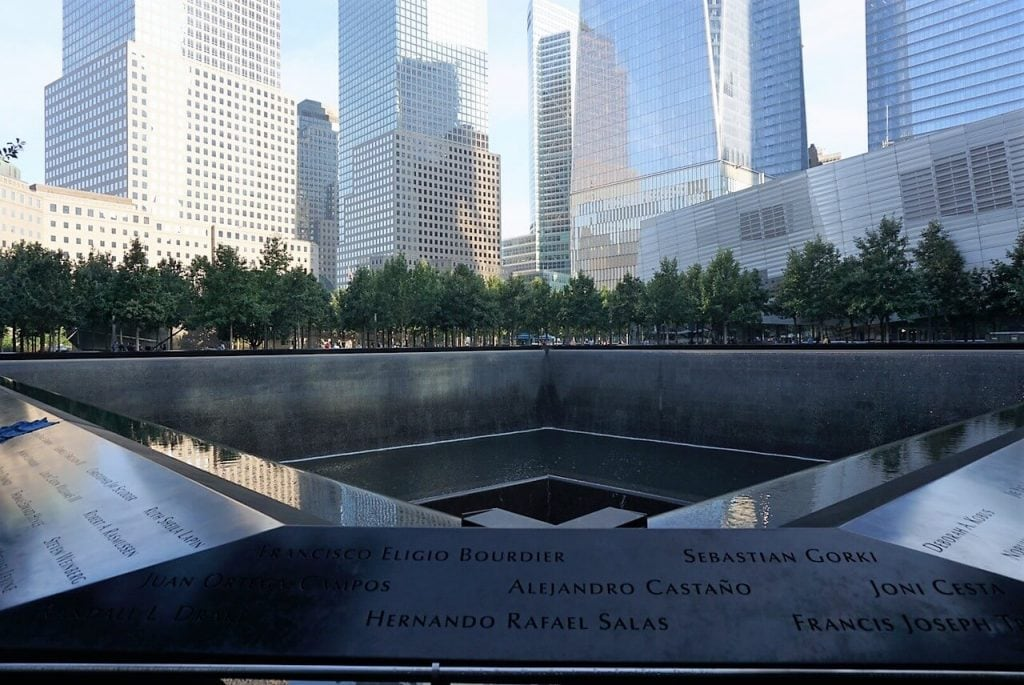 "The 9/11 Memorial is a beautiful tribute. Here is a photo of one of the two pools that make up the 9/11 Memorial. - - ""The National September 11 Memorial & Museum: A Moving Experience"" - Two Traveling Texans"