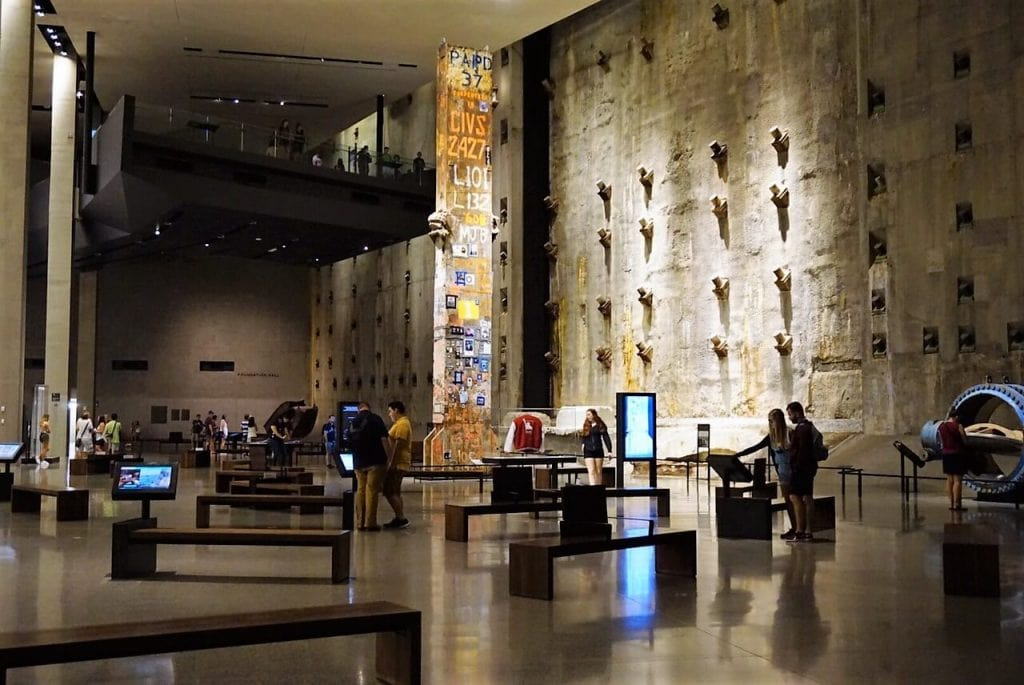 In this room, you can see the Last Column and the reinforced concrete walls from the Twin Towers.