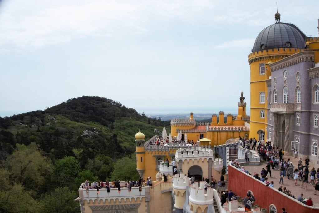 "You can see how popular Pena Palace is! - - ""Pena Palace: Sintra's Fairytale Castle"" - Two Traveling Texans"