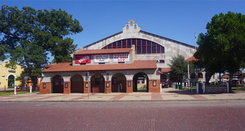 "Cowtown Coliseum, where the first indoor rodeo was held. - ""Fort Worth Stockyards: Learn About the Old West"" - Two Traveling Texans"