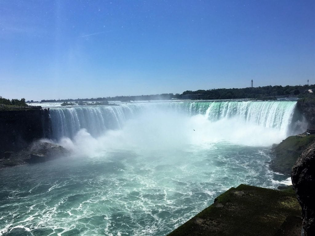 """The Horseshoe Falls is where the boat ride really gets intense! - - """"Hornblower Niagara Cruises Vs Maid of the Mist"""" - Two Traveling Texans"""