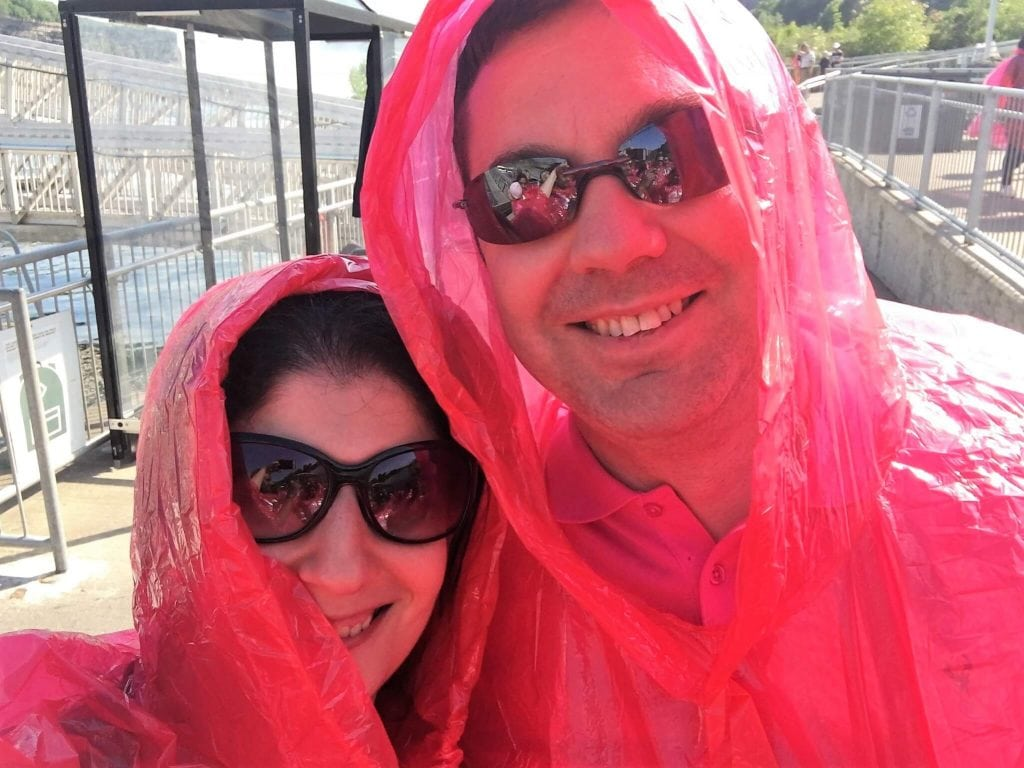 """We have our ponchos and we are ready to board the boat! - """"Hornblower Niagara Cruises Vs Maid of the Mist"""" - Two Traveling Texans"""