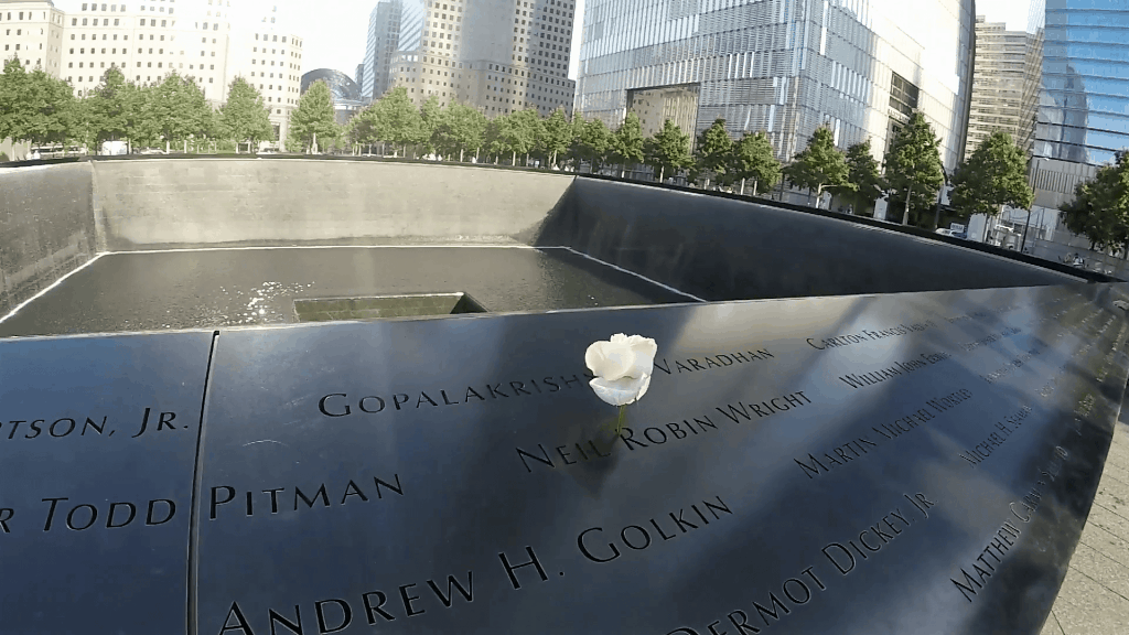 "The rose places in the name signifies it was the person's birthday. - ""The National September 11 Memorial & Museum: A Moving Experience"" - Two Traveling Texans"