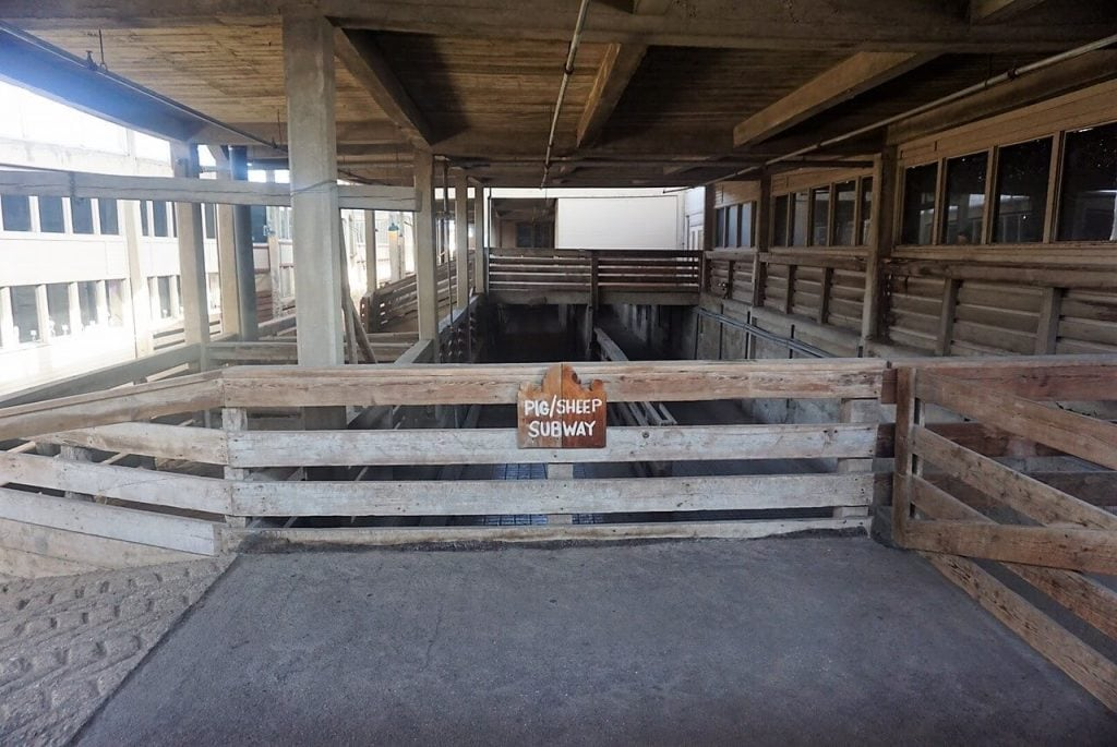 "The pig and sheep subway - tunnels that would lead the animals to the meat packing plants. - ""Fort Worth Stockyards: Learn About the Old West"" - Two Traveling Texans"