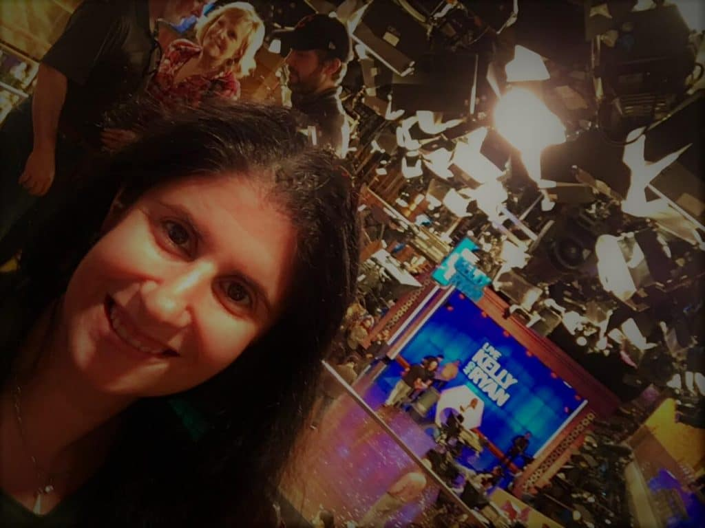 """Obligatory selfie with the Live set. - """"How to See TV Tapings in NYC With 1iota Tickets"""" - Two Traveling Texans"""